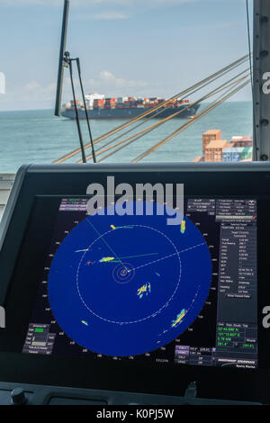 Merchant Vessel Radar Anti Collision - Stock Photo
