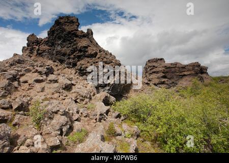 Dimmuborgir Lava Rocks - Stock Photo
