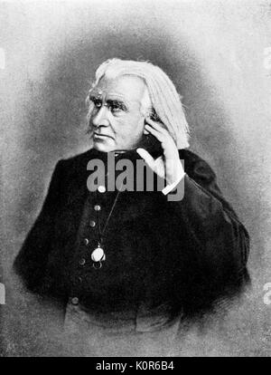 LISZT, Franz- with hand on ear -  Hungarian pianist and composer. 22 October 1811 - 31 July 1886. - Stock Photo