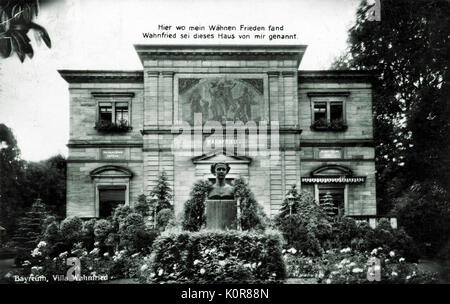 Richard Wagner - the German composer 's Villa Wahnfried in Bayreuth. RW: 22 May 1813 - 13 February 1883. - Stock Photo