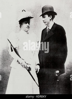 STRAUSS, Richard  and his wife Pauline 1894 (when they were newly married).  German composer & conductor. 11 June - Stock Photo
