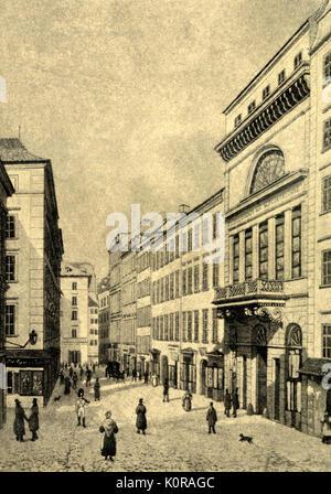 VIENNA. Gesellschaft der Musikfreunde (exterior). Society of the Friends of Music, formed in Vienna in 1812. Exterior, - Stock Photo