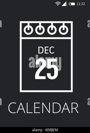 Digital composite of Calendar application interface - Stock Photo