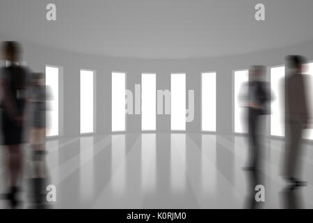 Digital composite of Business people silhouettes against building - Stock Photo