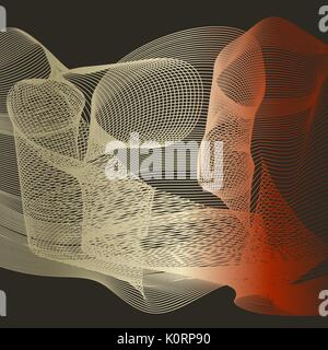 Abstract color wave design element. Colorful vector background. Blended gradient lines. - Stock Photo