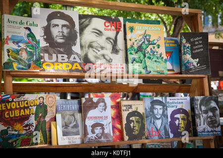 Books for sale in Plaza de Armas, Old Havana, Cuba - Stock Photo