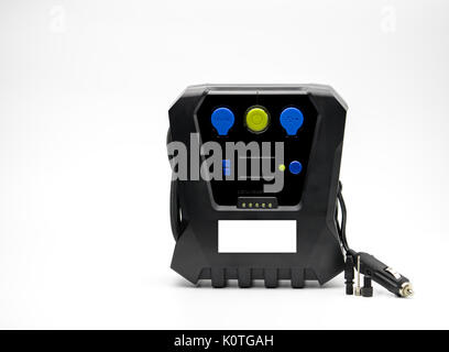 Emergency tire inflator isolated on white background with copy space - Stock Photo