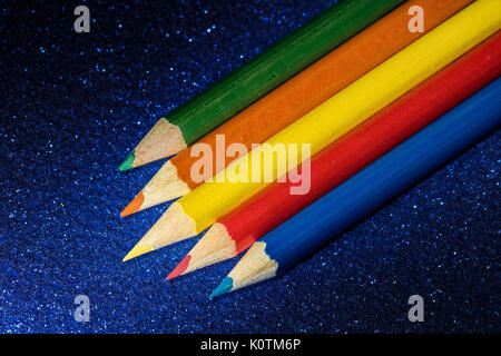 colour pencil with bacound - Stock Photo