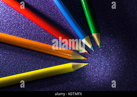 black and white colour popping pencil art - Stock Photo