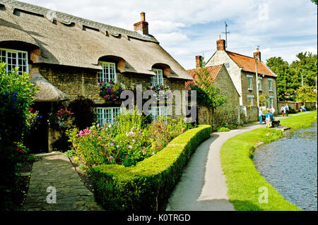 Thatched Cottage, Thornton Le Dale, North Yorkshire - Stock Photo