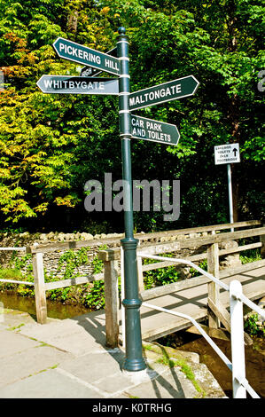 Information sign, Thornton Le Dale, North Yorkshire - Stock Photo