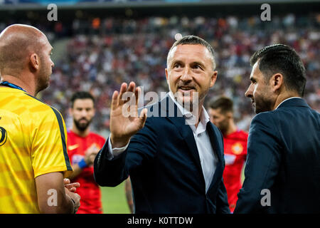 August 23, 2017: Mihai Stoica the sports manager of FCSB  during the UEFA Champions League 2017-2018, Play-Offs - Stock Photo