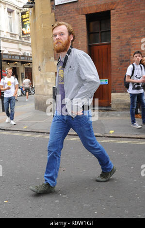 London, UK. 23rd August, 2017. Brian Gleeson Seen at The Apollo Theatre 23 august 2017 Credit: Fabrizio Carta/Alamy - Stock Photo