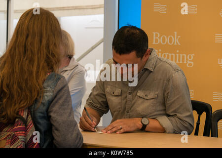Edinburgh, Scotland, United Kingdom, 25th August 2017. Edinburgh International Book Festival, with Dr Adam Rutherford, - Stock Photo