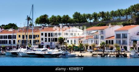 Mahon marina seafront Menorca Minorca Spain - Stock Photo