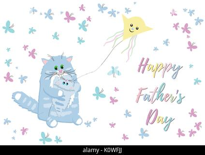 Holiday greetings illustration Father's Day - Stock Photo