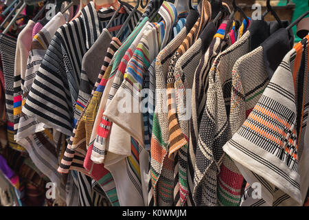 mens ponchos in Colombia - Stock Photo
