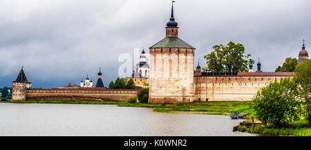 Kirillo-Belozersky monastery, Goritsy, Volga Baltic Waterway,russia - Stock Photo