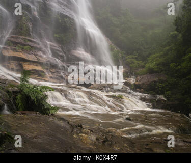 Bottom of Bridal Veil Falls, Leura, Blue Mountains, NSW, Australia - Stock Photo