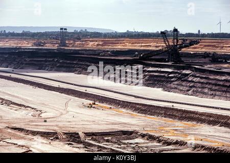 Open pit mine Garzweiler II in Germany - Stock Photo