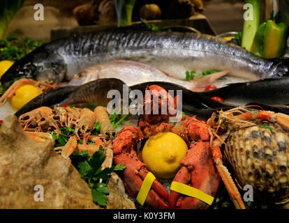 Assorted seafoods - Venice Fish Market 2 - Stock Photo
