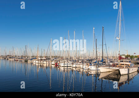 Marina, Heiligenhafen, Baltic Sea, Schleswig-Holstein, Germany - Stock Photo