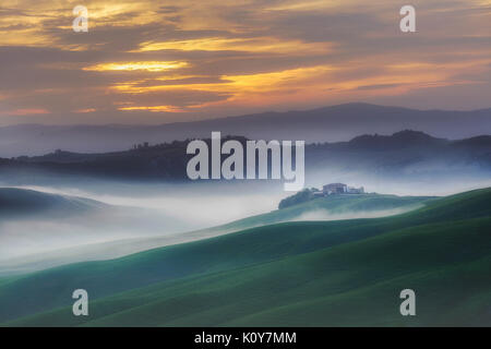 Crete Senesi, Tuscany, Italy - Stock Photo