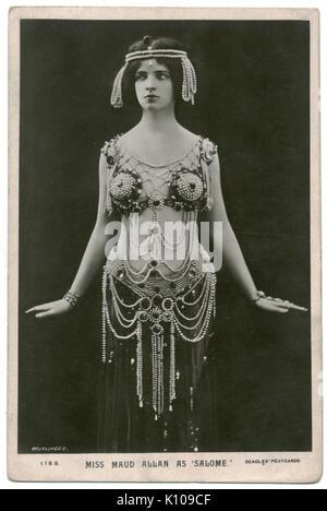 ALLAN, Maud Beagles. 118 B. As Salome. Photo Reutlinger - Stock Photo