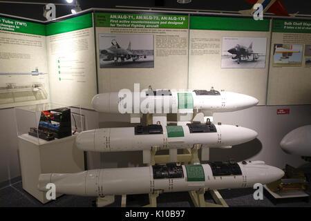 AN ALQ 71, AN ALQ 72, and AN ALQ 176 countermeasure pods   National Electronics Museum   DSC00449 - Stock Photo