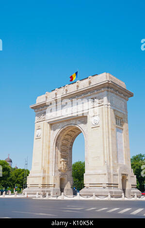Arcul de Triumf, The Arch Of Triumph, WWII memorial, Bucharest, Romania - Stock Photo