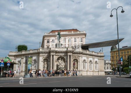 The building of Albertina Museum in the center of Vienna - Stock Photo