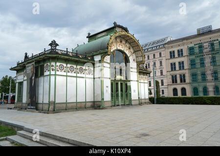 The old metro station in Karlsplatz in Vienna - Stock Photo