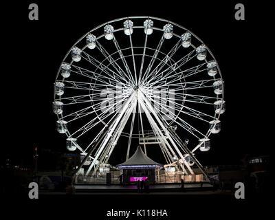 BOURNEMOUTH, UK - AUGUST 22, 2017: Bournemouth Big Wheel at night - Stock Photo