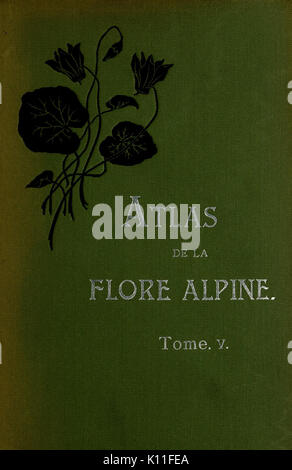 Atlas de la flora alpine BHL10388625 Stock Photo