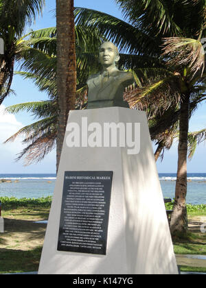Apolinario Mabini historical marker   War in the Pacific National Historical Park (Asan Beach Unit)   DSC00849 - Stock Photo
