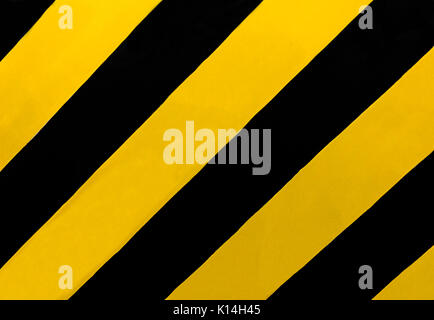 Traffic Sign: A rectangular sign with diagonal yellow and black stripes, wherever there is a median or other obstruction. - Stock Photo