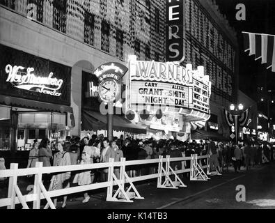 NIGHT AND DAY 1946 Warner Bros film opens on Broadway - Stock Photo