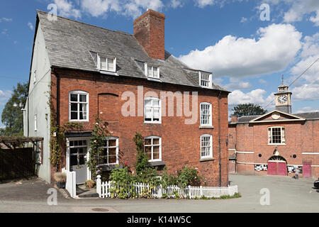 House in centre of Montgomery, Powys, Wales, UK - Stock Photo