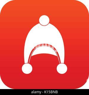 Warm hat icon digital red - Stock Photo