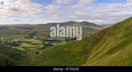 Morning views looking west from a drone over Blencathra - Stock Photo