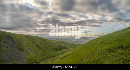 Morning views looking south from a drone over Blencathra