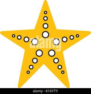starfish sea life icon - Stock Photo