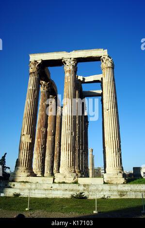 The Temple of Olympian Zeus, Athens, Greece - Stock Photo