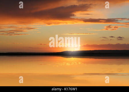 Penclawdd Gower Sunset - Stock Photo