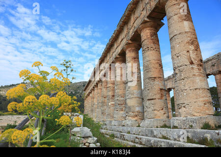 Sicily, Temple of Hera or Doric temple of Segesta in the former ancient city of Segesta, province of Trapani - Stock Photo