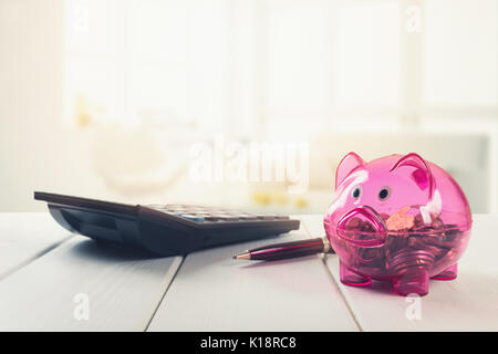 household savings - planning finances and budget - Stock Photo