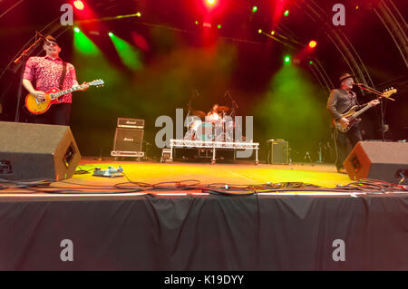 Belfast, Northern Ireland. 26/08/2017 - Punk band The Ruts play Custom House Square festival - Stock Photo
