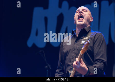 Belfast, Northern Ireland. 26/08/2017 - Punk band 'The Stranglers' play Custom House Square - Stock Photo