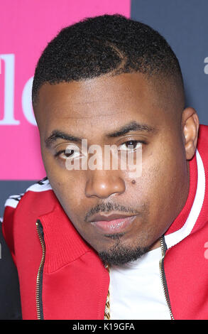 Las Vegas, NV, USA. 26th Aug, 2017.  Nas. Mayweather vs McGregor pre-fight VIP Red Carpet at T-Mobile Arena. Credit: - Stock Photo