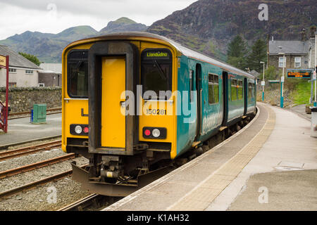 Arriva Trains Wales passenger train Sprinter Class 150/2 diesel multiple unit or DMU typically used on rural lines - Stock Photo